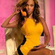 Topmodel Tyra Banks ist immer erreichbar.