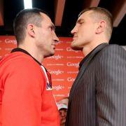 Marius Wach (rechts) erwies sich also nicht als der angekündigte große Gegner. Wladimir Klitschko ist damit bereits seit sechseinhalb Jahren Weltmeister.