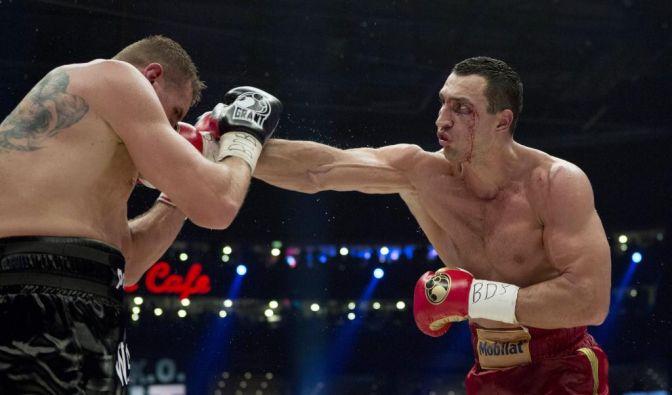 Blut, Schweiß - und im Fall von Mariusz Wach auch Tränen: Der Pole unterlag Wladimir Klitschko nach Punkten.