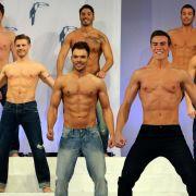 Schöne Männer so weit das Auge reicht: Bei der Wahl zum «Mister Germany» 2013 treten 17 Prachtkerle gegeneinander an.