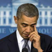 Bei seiner Rede im US-Fernsehen konnte Obama die Tränen kaum zurückhalten. «Unsere Herzen sind gebrochen», sagte er.