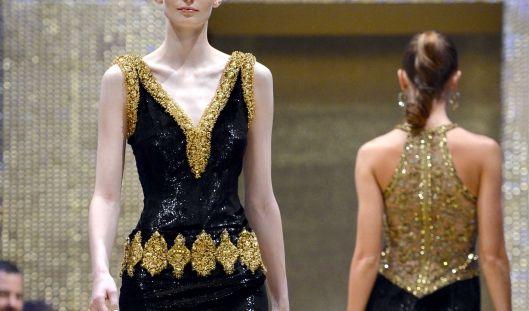 An dem blassen, kränklichen Körper wirkt das Kleid von Basler regelrecht überdimensioniert. (Foto)
