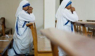Nonnen des von Mutter Teresa gegründeten Ordens Missionarinnen der Nächstenliebe. (Foto)