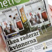 Weil Ikea Frauenbilder löschte, entblößte sich Femen auch schon im Möbelhaus.