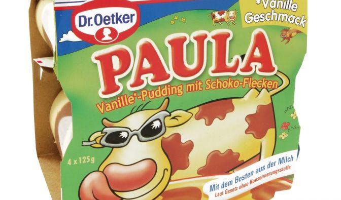 Für den Kuhflecken-Pudding Paula schlägt Hersteller Dr. Oetker Foodwatch zufolge eine wahre Materialschlacht.