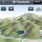 Die kostenlose Lite-Version von Maps 3D für iOS bietet Karten in 3D.