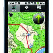 Scout ist Navigationssoftware und Fahrradcomputer. Angezeigt werden Geschwindigkeit, Strecke, Gesamtzeit, Streckenverlauf sowie Höhenmeter. Ausführliche Daten zur Tour werden aufgezeichnet.