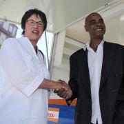Charles M. Huber, hier mit Brigitte Zypries, kandidiert 2013 für die CDU.