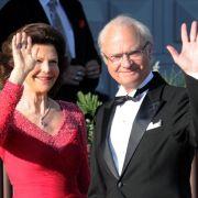 König Carl Gustaf und Königin Silvia freuen sich auf die Hochzeit ihrer Tochter.