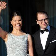 Kronprinzessin Victoria und Prinz Daniel nehmen am Festbankett teil.