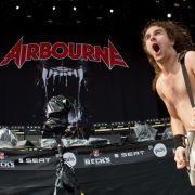 Der Frontmann der australischen Band Airbourne, Joel O'Keeffe, gab bei «Rock im Park» alles.