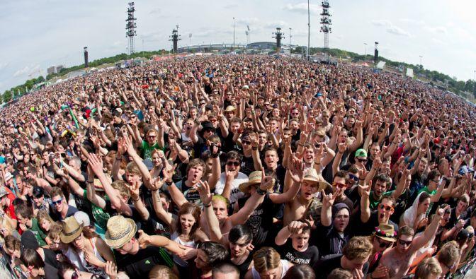 Dicht an dicht drängten sich die tausenden Musikbegeisterten.