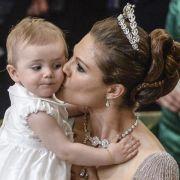 Kleiner Star in der Kirche: Prinzessin Estelle.