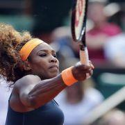 Die Weltranglisten-Erste und Titelverteidigerin Serena Williams schlug «nur» mit 201 Stundenkilometern auf.