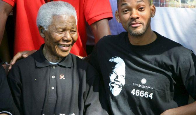 Schauspieler Will Smith zusammen mit Nelson Mandela. (Foto)