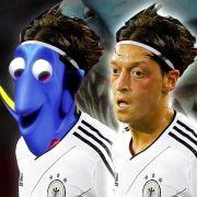 Glubschauge, sei wachsam! Mesut Özil wird nach den lustigen Fischen aus dem Animationsfilm Findet Nemo Nemo genannt.