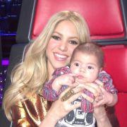 Sogar zur Aufzeichnung der US-Talentshow «The Voice», bei der Shakira in der Jury sitzt, musste der kleine Milan mit.
