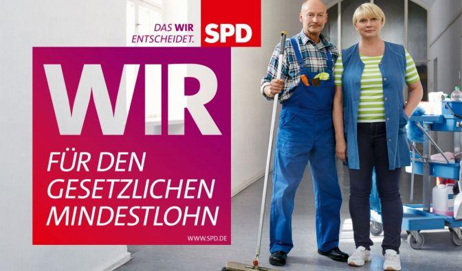 Die SPD wirbt für einen gesetzlichen Mindestlohn. (Foto)