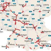 Urlauber müssen in Deutschland vielerorts mit Staufallen rechnen.