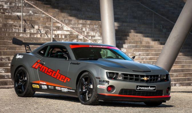 Der Irmscher Chevrolet Camaro, welcher für Driftevents aufgebaut wurde, hat einen 6,2-Liter-V8-Motor. (Foto)