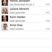 2013 wurde Joyn nach zweijähriger Verspätung veröffentlicht. Joyn sendet Fotos, Videos sowie Dateien. Gruppenchats sind möglich.