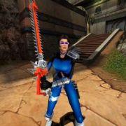 Heldin Julie aus «Heavy Metal F.A.K.K.²» ist bis an die Brüste mit schweren Klingen bewaffnet. Und bei all den Kämpfen geizt sie nicht mit üppigen Kurven.