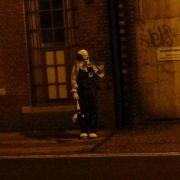 Die meisten Fotos, die es vom Clown in Mittelengland gibt, enstanden allerdings im Grusel der Nacht.
