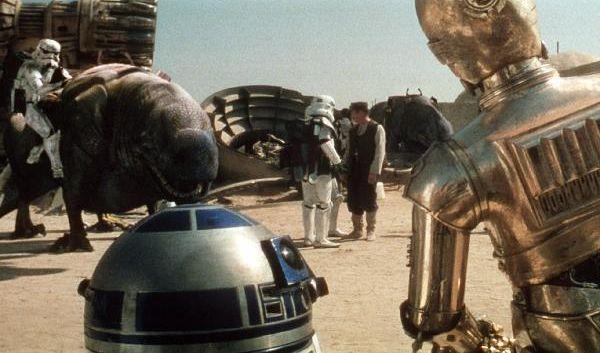 96 Zentimeter hoch und ganz schön frech: Der Astro-Droide R2-D2 und der ängstliche Protokolldroide C-3PO sind die beliebtesten Roboter. (Foto)