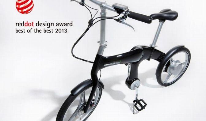 Der Rahmen des E-Bikes gewann Anfang 2013 den Red Dot Design Award für seine geraden Linien. (Foto)