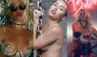 Rihanna, Miley Cyrus und Britney Spears geizen nicht mit ihren weiblichen Reizen. Aber ab wann ist es zu viel des Guten? (Foto)