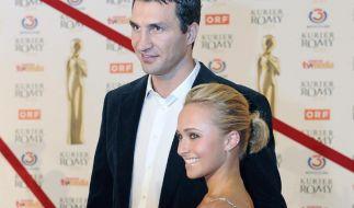 Werden bald zum ersten Mal Eltern: Hayden Panettiere und Wladimir Klitschko. (Foto)