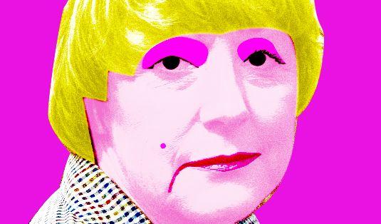 Fast schon klassisch: Merkel goes PopArt.