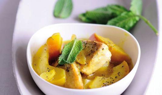 Geminztes Curryhühnchen (Foto)