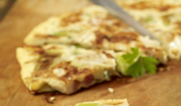Kalte Lauch-Speck-Tortillla