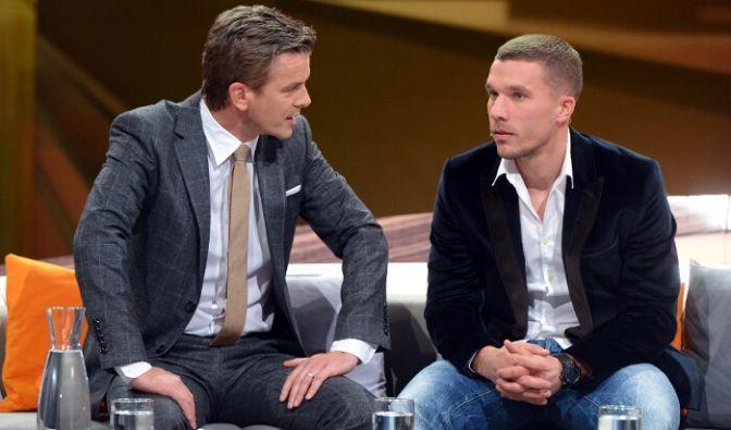 Fußball-Profi Lukas Podolski zu Gast bei «Wetten, dass...?» (Foto)