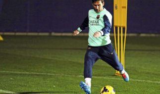 Barca-Star Messi feiert Trainingscomeback (Foto)