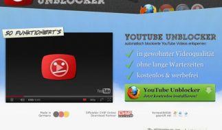 Mit einem kostenlosen Browser-Add-on lassen sich Videos abspielen, die auf YouTube gesperrt sind. (Foto)