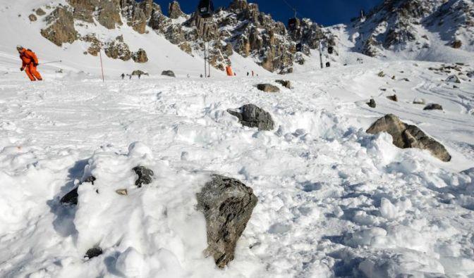 In diesem steinigen Gebiet in Meribel ist Schumacher gestürzt.