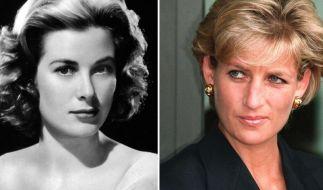 Die Bildkombo zeigt Grace Kelly (l) 1954 und die britische Prinzessin Lady Diana am 13.01.1997. (Foto)