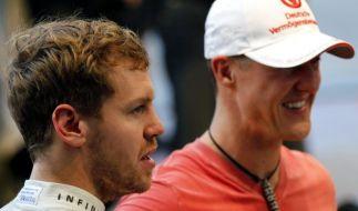 Michael Schumacher (rechts) und Sebastian Vettel fuhren noch gemeinsam in der Formel 1, bevor Schumi seinen Rücktritt erklärte. (Foto)