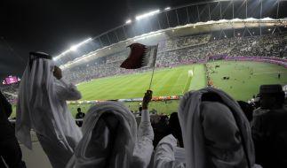Kein Schwitzen oder energieintensives Stadion-Kühlen im Sommer: Die Fußball-WM in Katar 2022 soll im Winter stattfinden. (Foto)