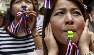 Tausende bei Protestmarsch von Regierungsgegnern in Bangkok (Foto)