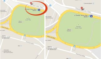 Eigentlich ist hier seit 1963 der Heuss-Platz. Doch am 9. Januar 2014 wurde die Zeit um 70 Jahre zurückgedreht. (Foto)