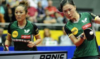 Deutsches Tischtennis-Doppel im Halbfinale von Dubai (Foto)