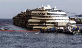 Zwei Jahre nach der Havarie der «Costa Concordia» ist das Schiffswrack noch nicht geborgen. (Foto)