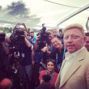 Stolz wie Boris: Becker wird von den Journalisten bei den Australian Open hofiert.