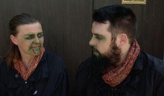 Stephi Hopp in der Rolle der Ute Hammann mit Simon Kleinschmidt. (Foto)
