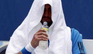 Bei 40 Grad: Tennis als Grenzerfahrung (Foto)