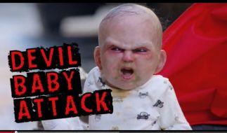 Bei diesem Baby kann einem wirklich Angst und Bange werden. (Foto)