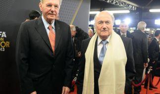 Fifa-Boss Joseph Blatter ist frisch verliebt. (Foto)